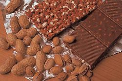 čokolády s oříšky